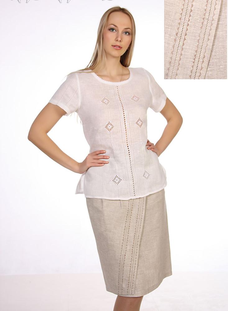 Льняная юбка ШарлоттаЮбки<br>Как известно, лен - один из наиболее подходящих для легкой летней одежды материалов, ведь он обладает большим достоинством - высокой воздухопроницаемостью, благодаря чему тело в льняной одежде дышит.   Именно из-за этого и других достоинств льна женская юбка Шарлотта выполнена из данного материала. Лен, как не просто дышащий, но также экологически чистый и гипоаллергенный материал, делает одежду абсолютно удобной даже при продолжительной носке. Но еще более удобной юбку делает ее крой, не стесняющий ваших движений.   А дизайн женской льняной юбки Шарлотта отличается простотой, благодаря которой вы можете смело сочетать ее с футболками и блузками любых фасонов и расцветок.<br>Длина изделия с поясом : 60 Полуобхват талии : 36 Ширина пояса : 11 Размер: 56<br><br>Принадлежность: Женская одежда<br>Основной материал: Лен<br>Вид товара: Одежда<br>Материал: Лен<br>Длина изделия: Длина юбки с поясом - 60 см, Ширина пояса - 11 см<br>Длина: 18<br>Ширина: 12<br>Высота: 7<br>Размер RU: 56