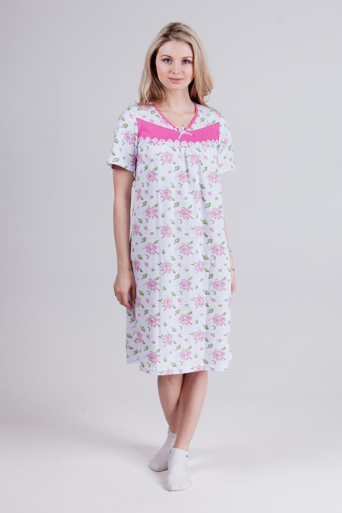 Ночная сорочка МиланСорочки и ночные рубашки<br>Девушки, никогда не сомневайтесь в своей красоте, а если вдруг на вас находят сомнения, то лучший способ прогнать их - пополнить свой гардероб красивой одеждой. Сегодня сделать это можно с женской ночной сорочкой Милан!<br>Эта милая женственная модель целый год будет дарить вам прекрасное настроение утром и ночью, а также дарить великолепный сон! В чем же ее секрет? На самом деле, никого секрета нет, просто данная модель сшита из хлопкового материала, кулирки, который позволяет ей быть мягкой и удобной в носке, и имеет нежный цветочный дизайн.<br>Помимо этого, сорочка Милан обладает привлекательной ценой!<br>  Размер: 52<br><br>Принадлежность: Женская одежда<br>Основной материал: Кулирка<br>Страна - производитель ткани: Россия, г. Иваново<br>Вид товара: Одежда<br>Материал: Кулирка<br>Длина: 18<br>Ширина: 12<br>Высота: 7<br>Размер RU: 52