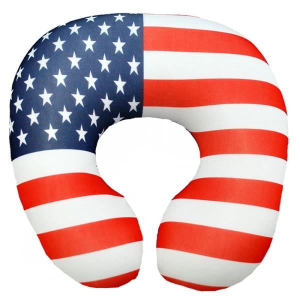 """Подушка под шею """"Америка"""" 35*35 от Grandstock"""