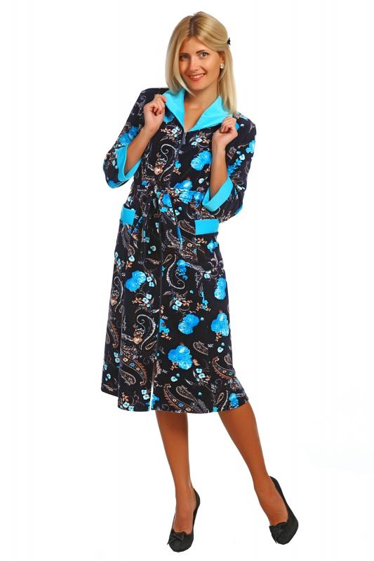Халат женский ФевроньяТеплые халаты<br>Размер: 66<br><br>Высота: 11<br>Размер RU: 66