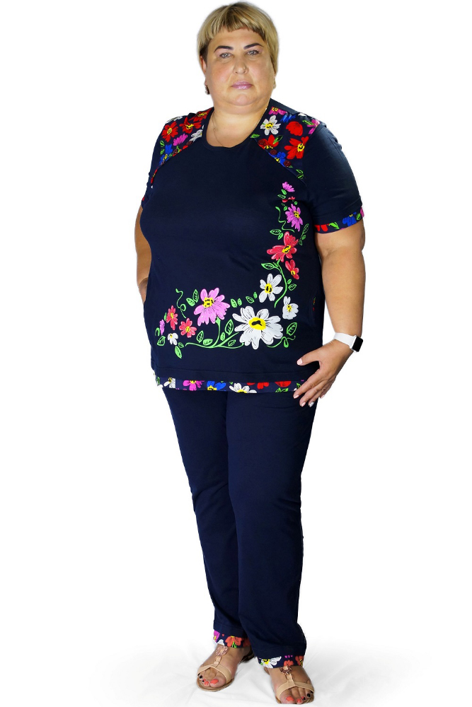 Костюм женский РенатаЛетние костюмы<br>Размер: 54<br><br>Высота: 9<br>Размер RU: 54