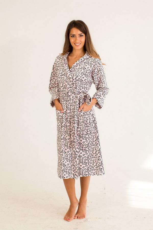 Халат женский КанзасТеплые халаты<br>Обратите внимание - на бирке изделия может быть указан неверный материал (100% хлопок) - в данный момент эта проблема решается производителем. Размер: 44<br><br>Принадлежность: Женская одежда<br>Основной материал: Велюр<br>Вид товара: Одежда<br>Материал: Велюр<br>Длина рукава: Длинный<br>Длина: 30<br>Ширина: 20<br>Высота: 11<br>Размер RU: 44