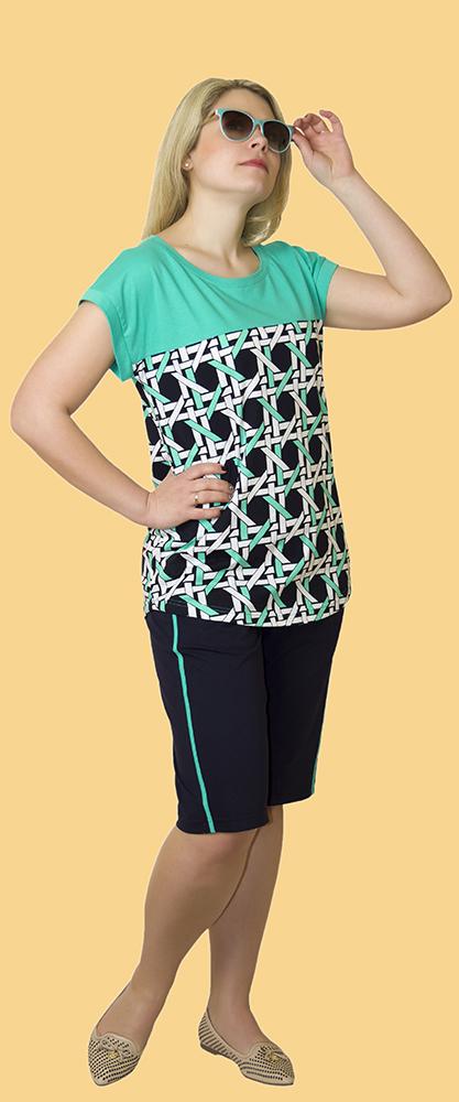 Костюм женский ЮлианаЛетние костюмы<br>Размер: 52<br><br>Высота: 6<br>Размер RU: 52