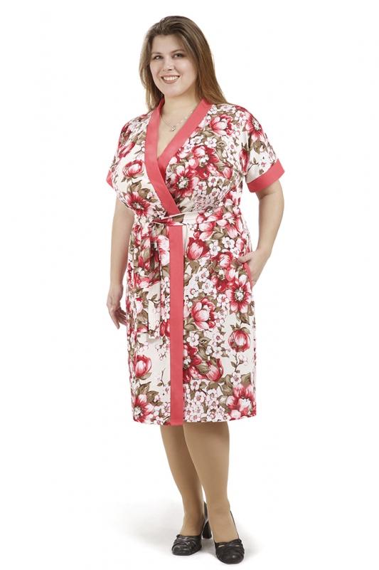 Халат женский ЭлинаЛегкие халаты<br>Любите милые и романтичные вещи? Предпочитаете наполнять свой быт красотой и красками? Стремитесь оставаться неотразимой в любое время? Ваш вариант - женский халат Элина!<br>Кулирка - безупречный выбор для домашней одежды и для летних вещей. Как другие хлопковые ткани, она гигроскопична, воздухопроницаема, не способствует перегреву, но не даст замерзнуть. При своей легкости, материал стабилен в форме, расцветках и размерах.<br>В наличии - большой выбор размеров халатов Элина для обладательниц разных фигур. Простой крой отлично смотрится на всех, позволяя не сомневаться в своей привлекательности. Кулирка не образует складок и загибов. Вещи из нее отлично хранятся сложенными и не нуждаются в обязательном проглаживании.  Размер: 54<br><br>Принадлежность: Женская одежда<br>По назначению: Повседневные<br>Основной материал: Кулирка<br>Страна - производитель ткани: Россия, г. Иваново<br>Вид товара: Одежда<br>Материал: Кулирка<br>Сезон: Лето<br>Тип застежки: Без застежки<br>Состав: 100% хлопок<br>Длина рукава: Короткий<br>Длина: 19<br>Ширина: 17<br>Высота: 9<br>Размер RU: 54