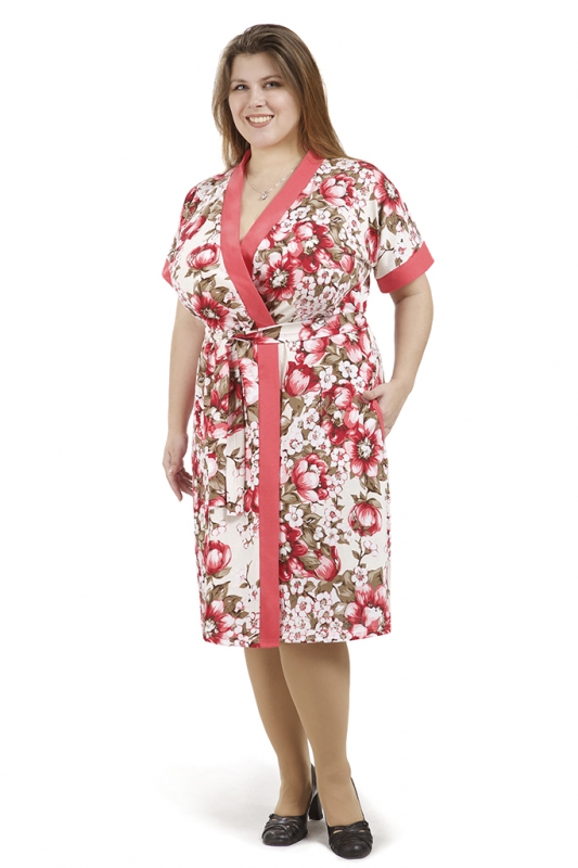 Халат женский ЭлинаЛегкие халаты<br>Размер: 52<br><br>Высота: 9<br>Размер RU: 52