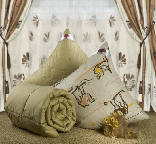 """Одеяло зимнее """"Ночь"""" (верблюжья шерсть, тик) (2 спальный (172*205))"""