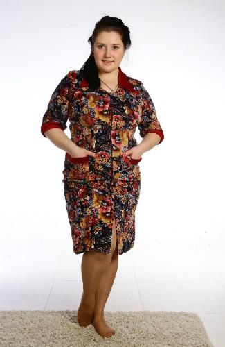 Халат женский СофьяТеплые халаты<br>Думаете, что халаты давно вышли из моды? А вот и нет! Ведь халат - самая удобная форма домашней одежды для женщины, в которой она, к тому же, выглядит очень привлекательно.   С легкостью убедиться в этом вы можете, взглянув на новую модель из нашего каталога женской одежды для дома - халат Софья! Во-первых, данный халат выполнен из велюра, материала с очень нежной текстурой, поэтому даже самая чувствительная кожа будет в восторге от него! Во-вторых, халат имеет удобный прямой крой и рукава средней длины, поэтому удобство даже во время долгой носки вам гарантировано!   Размер: 48<br><br>Принадлежность: Женская одежда<br>Основной материал: Велюр<br>Вид товара: Одежда<br>Материал: Велюр<br>Сезон: Зима<br>Состав: 80% хлопок, 20% полиэстер<br>Длина рукава: Средний<br>Длина: 30<br>Ширина: 20<br>Высота: 11<br>Размер RU: 48