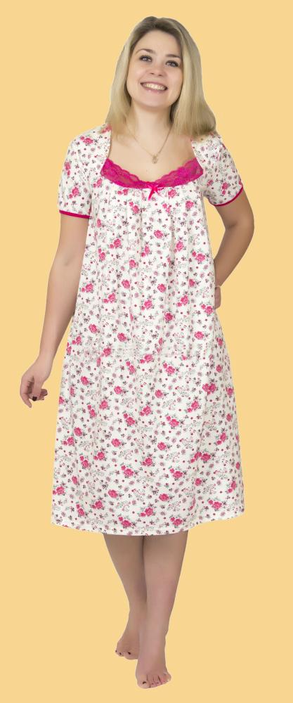 Ночная сорочка МаришаСорочки и ночные рубашки<br>Размер: 56<br><br>Принадлежность: Женская одежда<br>Основной материал: Кулирка<br>Страна - производитель ткани: Россия, г. Иваново<br>Вид товара: Одежда<br>Материал: Кулирка<br>Длина: 18<br>Ширина: 12<br>Высота: 7<br>Размер RU: 56