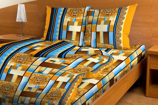 """Постельное белье """"Меценат коричневый GS"""" (бязь) 1,5 спальный"""