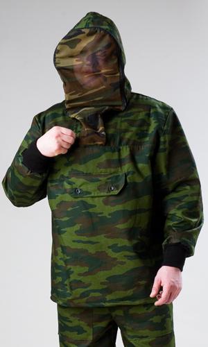 Костюм противоэнцефалитный Зверобой (флора КМФ)Для туристов<br>Костюм противоэнцефалитный состоит из куртки и брюк. Куртка с капюшоном оснащена противомоскитной сеткой на молнии, убирающейся в специальный потайной карман, с прорезным карманом на груди застёгивающимся на тесьму-молнию, прикрытым клапаном, рукав втачной длинный с трикотажным манжетом. Брюки прямые, на поясе со шлёвками, стянуты эластичной тесьмой, по бокам карманы с отрезным бочком и накладными карманами на передней части бедра, по низу ширина брюк регулируется эластичным тесьмой. Размер: 48-50<br><br>Принадлежность: Мужская одежда<br>Основной материал: Смесовые ткани<br>Страна - производитель ткани: Россия, г. Иваново<br>Вид товара: Одежда<br>Материал: Смесовые ткани<br>Тип застежки: Молния<br>Состав: 65% полиэстер, 35% хлопок<br>Длина рукава: Длинный<br>Длина: 27<br>Ширина: 25<br>Высота: 8<br>Размер RU: 48-50