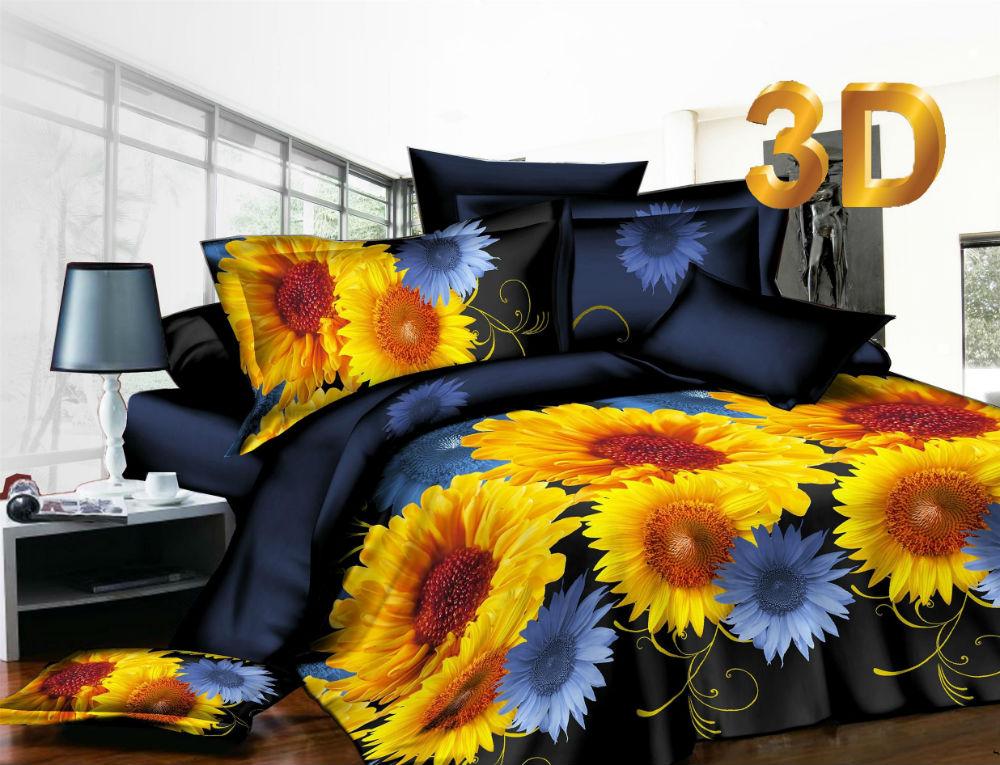 Постельное белье Подсолнух 3D (шелк искусственный) 2 спальный с Евро простынёйШелк 3D и 5D<br>Размер: 2 спальный с Евро простынёй<br><br>Тип простыни: Без шва<br>Тип пододеяльника: Без шва<br>Принадлежность: Для дома<br>Плотность КПБ: 115 гр/кв.м<br>Категория КПБ: Цветы и растения<br>По назначению: Повседневные<br>Рисунок наволочек: Расположение элементов расцветки может не совпадать с рисунком на картинке<br>Основной материал: Шелк искусственный<br>Страна - производитель ткани: Россия, г. Иваново<br>Вид товара: КПБ<br>Материал: Шелк искусственный<br>Сезон: Круглогодичный<br>Плотность: 115 г/кв. м.<br>Состав: 100% полиэстер<br>Комплектация КПБ: Пододеяльник, простыня, наволочка<br>Длина: 37<br>Ширина: 27<br>Высота: 8<br>Размер RU: 2 спальный с Евро простынёй