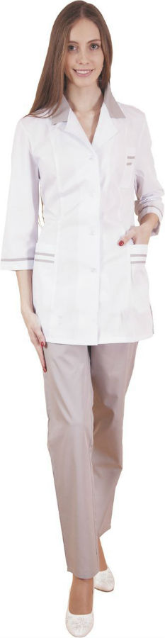 Костюм медицинский МарияДля врачей<br>Костюм медицинский, застежка - пуговицы. Размер: 46<br><br>Высота: 7<br>Размер RU: 46