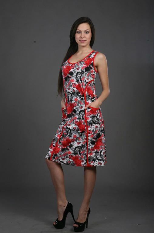 Сарафан женский АрабеллаСарафаны<br>Невозможно быть самой красивой без платья, которое бы подчеркивало каждое достоинство вашей фигуры и делало ее идеальной. Но и найти такое платье вам не составит труда! Доказательство тому &amp;amp;mdash; лаконичный и изящный женский сарафан Арабелла.<br>Перед вами модель, которая подчеркнет даже самые нуловимые достоинства вашей фигуры: его фасон выполнен с учетом того, чтобы сделать женскую фигуру более изящной и грациозной. Сарафан выполнен а очаровательной цветочной расцветке, придающей ему еще большую легкость и нежность. Цветочный узор &amp;amp;mdash; идеальное цветовое сочетание для лета.<br>Но главное преимущество женского халата Арабелла - материал. Изделие выполнено из кулирки, а значит, даже в сильную жару вы будете чувствовать себя комфортно. Размер: 52<br><br>Высота: 7<br>Размер RU: 52