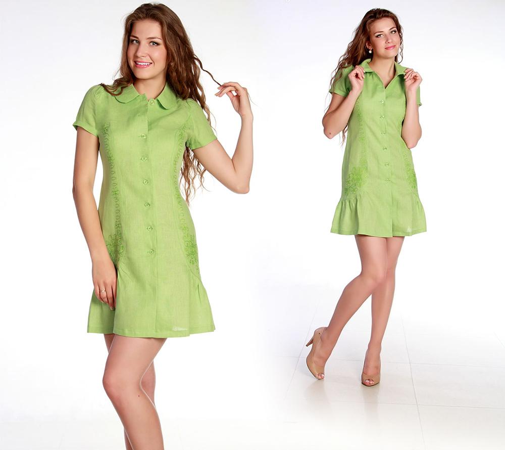 Льняное платье Анастасия
