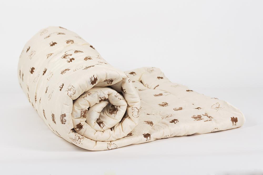 """Одеяло зимнее """"Тихий час"""" (верблюжья шерсть, полиэстер) 1,5 спальный (140*205)"""