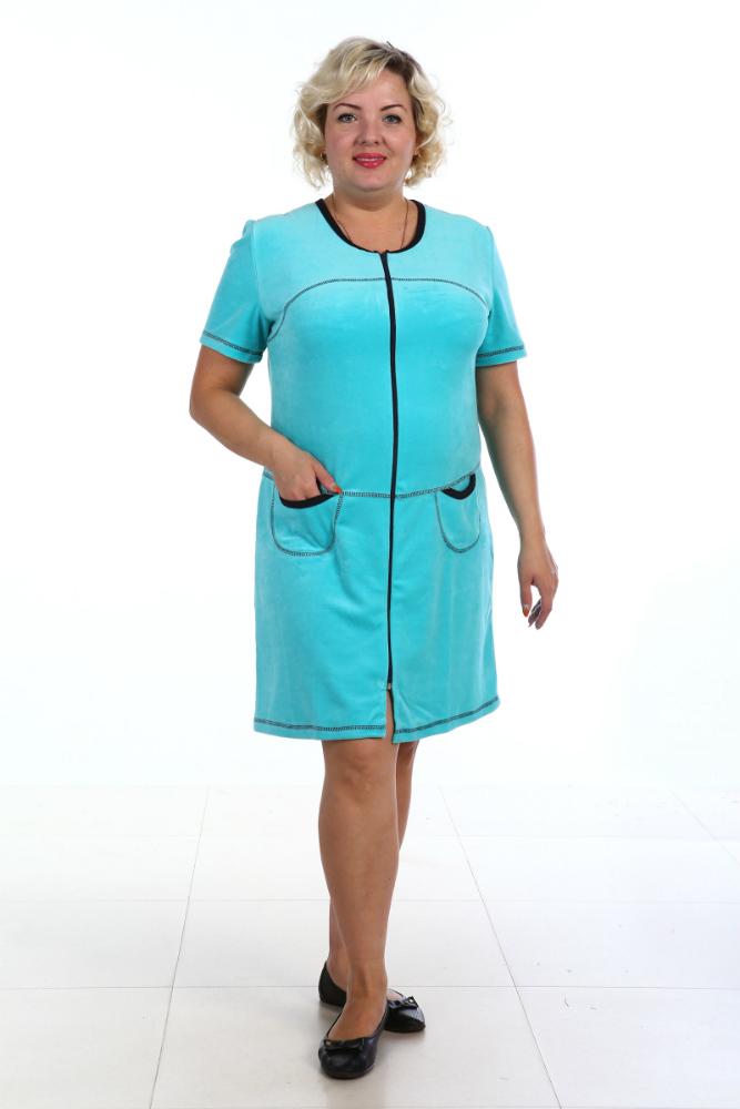 Халат женский Комфорт (велюр)Теплые халаты<br>Размер: 48<br><br>Высота: 11<br>Размер RU: 48