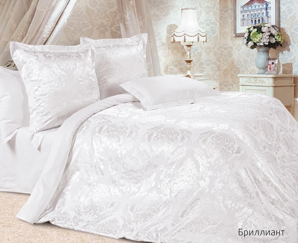 """Постельное белье """"Бриллиант"""" (сатин-жаккард) 2 спальный с Евро простынёй"""