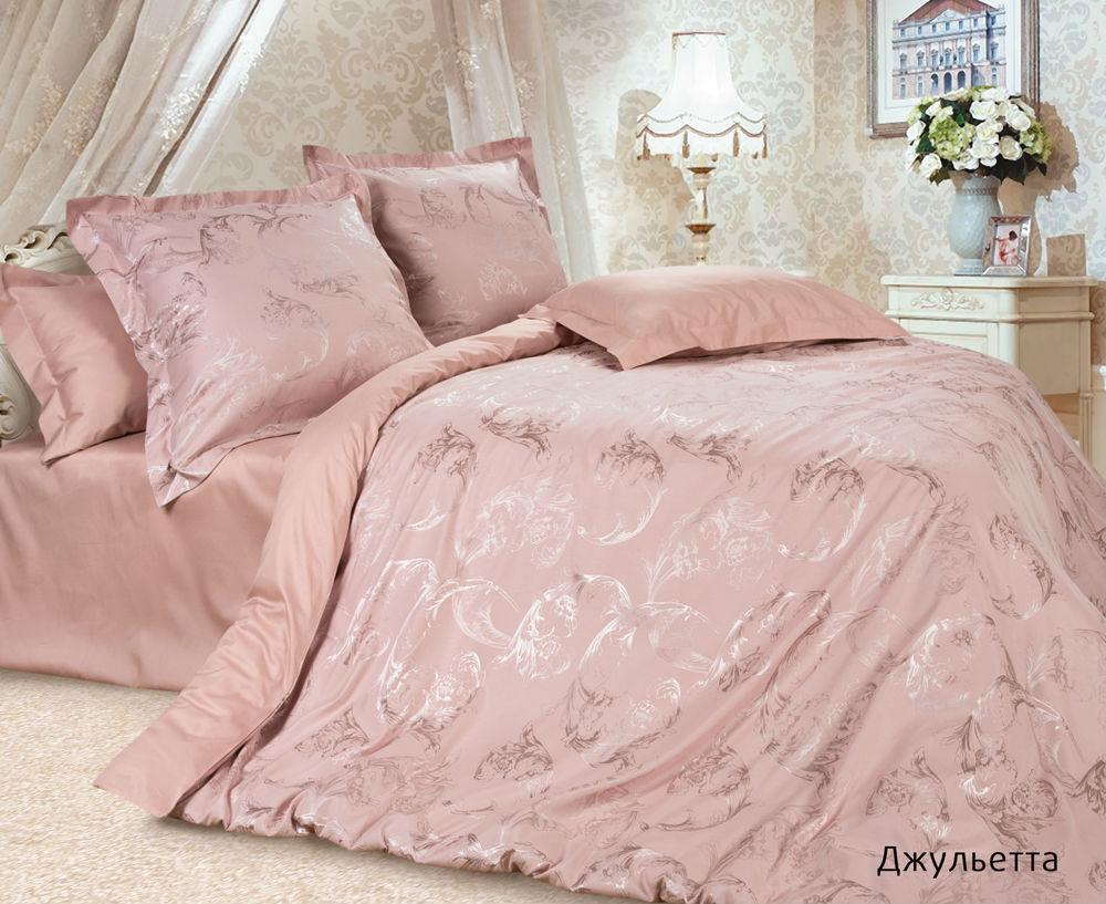 """Постельное белье """"Джульетта"""" (сатин-жаккард) 2 спальный с Евро простынёй"""