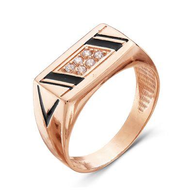 Кольцо серебряное 2386613Серебряные кольца<br>Вес  5,75<br>Вставка  фианиты<br>Покрытие  золочение Размер: 19.5<br><br>Высота: 3<br>Размер RU: 19.5