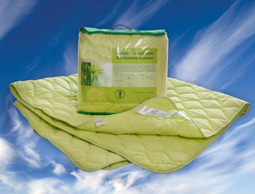 Одеяло зимнее Диана (бамбук, поплин) 1,5 спальный (140*205)Бамбук<br>Подобрать постельные принадлежности не так просто, ведь спальное место должно быть теплым, уютным и практичным. Хорошее решение - зимнее одеяло Диана из бамбука и поплина, сполна соответствующее этим требованиям.<br><br>Поплин - прочный, неприхотливый, плотный, но легкий материал. Он отлично вентилируется, что немаловажно при наличии наполнителя. Бамбуковое волокно - гипоаллергенное и экологичное решение. Оно не имеет аналогов по показателям воздухопроницаемости и гигроскопичности. Также известны целебные свойства бамбука.<br>Теплое одеяло Диана - находка для морозных дней. Возвращаться в любимую кровать станет еще приятнее.<br> Размер: 1,5 спальный (140*205)<br><br>Уход за вещами: Стирка запрещена, только химчистка<br>Тип одеяла: Премиум<br>Принадлежность: Для дома<br>По назначению: Повседневные<br>Наполнитель: Бамбуковое волокно<br>Основной материал: Поплин<br>Страна - производитель ткани: Россия, г. Иваново<br>Вид товара: Одеяла и подушки<br>Материал: Поплин<br>Сезон: Зима<br>Плотность: 300 г/кв. м.<br>Толщина одеяла: Стандартное (от 300 до 500 гр/кв.м)<br>Длина: 48<br>Ширина: 38<br>Высота: 20<br>Размер RU: 1,5 спальный (140*205)