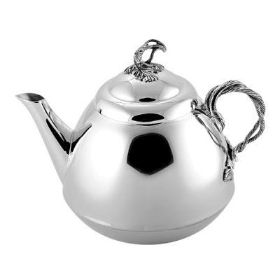 Чайник серебряный 930528-1Столовое серебро<br>Вес  278,70<br>Покрытие  оксидирование<br>Описание  Чайник, емкость 500 мл.<br><br>Высота: 15