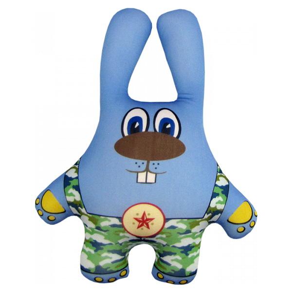 """Антистрессовая игрушка """"Заяц в камуфляже синий"""" 38х26"""