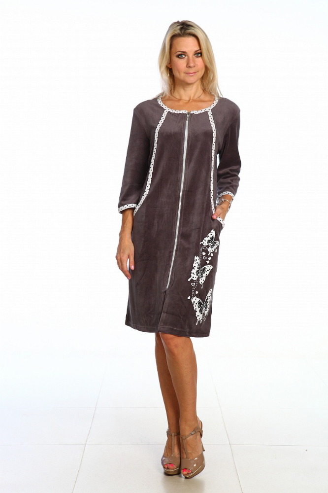 Халат женский ДжонетТеплые халаты<br>Размер: 44<br><br>Высота: 11<br>Размер RU: 44