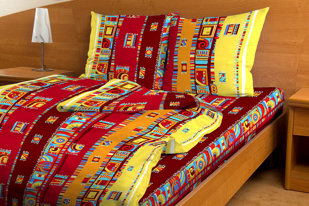 """Постельное белье """"Мексика красный GS"""" (бязь) 1,5 спальный"""