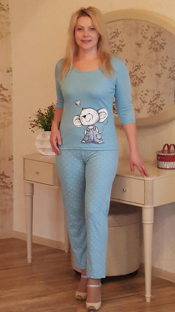 Пижама женская АгатаПижамы<br>Размер: 46<br><br>Высота: 7<br>Размер RU: 46
