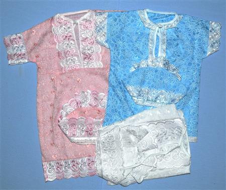 Набор крестильный из шитья с кружевом МаргариткаКрестильные наборы<br>Определиться с расцветкой Вы можете здесь<br>Рубашка, чепчик<br><br>Принадлежность: Детская одежда<br>Возраст: Младенец (0-12 месяцев)<br>Пол: Унисекс<br>Основной материал: Трикотаж<br>Страна - производитель ткани: Россия, г. Иваново<br>Вид товара: Детская одежда<br>Материал: Трикотаж<br>Длина: 18<br>Ширина: 12<br>Высота: 2