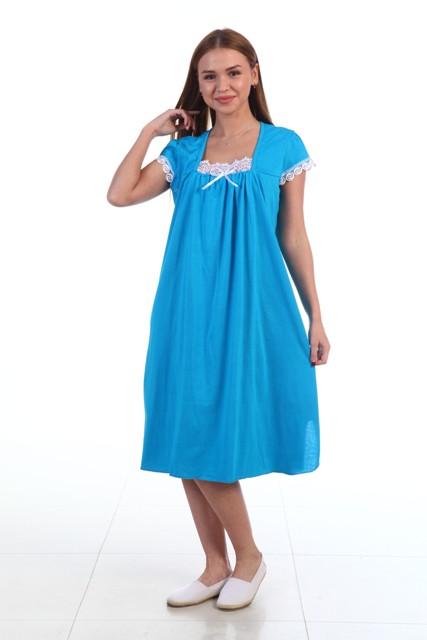 Ночная сорочка ЖеняСорочки и ночные рубашки<br>Любите легкость и женственность? Ищите комфортную и практичную одежду для сна? Обязательно присмотритесь к ночной сорочке Женя!<br>Ткань для пошива - легкая трикотажная кулирка. Практически невесомая, она приятно ощущается на коже, не парит и не препятствует естественной терморегуляции и воздухообмену, не тянется и не деформируется. Она не требует сложного ухода, гипоаллергенна и не стимулирует проявление раздражений на чувствительной коже. Нежная расцветка модели действует успокаивающе и идеально подходит для сна.<br>Ночная сорочка Женя - стильное, изящное и элегантное решение. К ее преимуществам присоединяется доступная стоимость, приятно радующая экономных хозяек. Размер: 60<br><br>Принадлежность: Женская одежда<br>Основной материал: Кулирка<br>Страна - производитель ткани: Россия, г. Иваново<br>Вид товара: Одежда<br>Материал: Кулирка<br>Состав: 100% хлопок<br>Длина рукава: Короткий<br>Длина: 18<br>Ширина: 12<br>Высота: 7<br>Размер RU: 60
