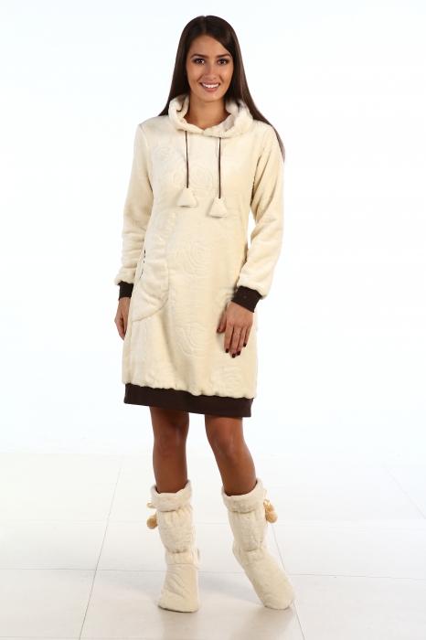 Туника женская КарамельТуники<br>Размер: 42<br><br>Принадлежность: Женская одежда<br>Основной материал: Велсофт<br>Страна - производитель ткани: Россия, г. Иваново<br>Вид товара: Одежда<br>Материал: Велсофт<br>Сезон: Весна - осень<br>Тип застежки: Без застежки<br>Длина рукава: Длинный<br>Длина: 18<br>Ширина: 12<br>Высота: 7<br>Размер RU: 42