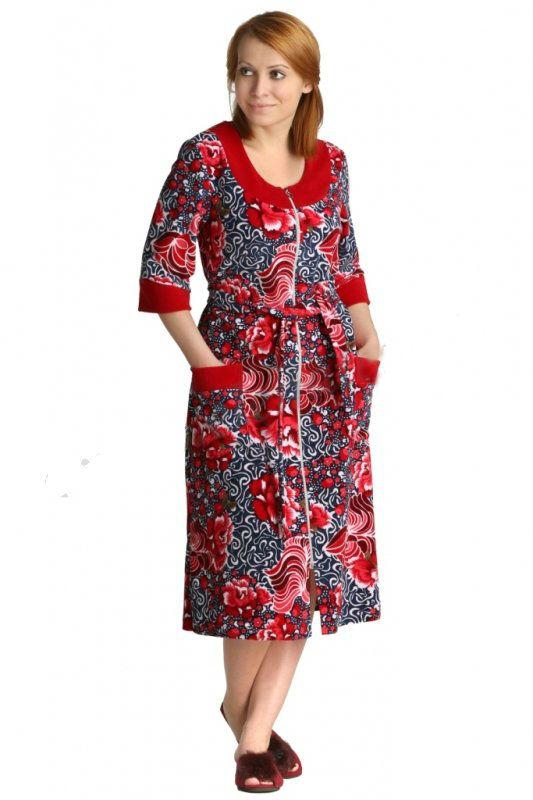Халат женский ВиргилияТеплые халаты<br>Размер: 50<br><br>Принадлежность: Женская одежда<br>Основной материал: Велюр<br>Вид товара: Одежда<br>Материал: Велюр<br>Длина изделия: 116 см<br>Состав: 80% хлопок, 20% полиэстер<br>Длина рукава: Средний<br>Длина: 30<br>Ширина: 20<br>Высота: 11<br>Размер RU: 50