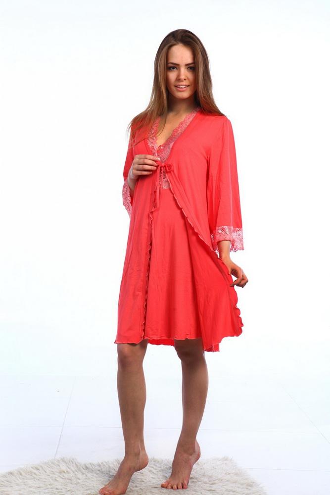 Комплект женский СофиНочные комплекты<br>Комплект состоит из однотонных сорочки и пеньюара, отделанных кружевом. Пеньюар на завязочках. Длина сорочки 88-94 см, длина пеньюара 93 - 99 см. Материал - вискоза. Состав: вискоза 100%. Размер: 50<br><br>Принадлежность: Женская одежда<br>Основной материал: Вискоза<br>Вид товара: Одежда<br>Материал: Вискоза<br>Состав: 100% вискоза<br>Длина: 25<br>Ширина: 17<br>Высота: 9<br>Размер RU: 50