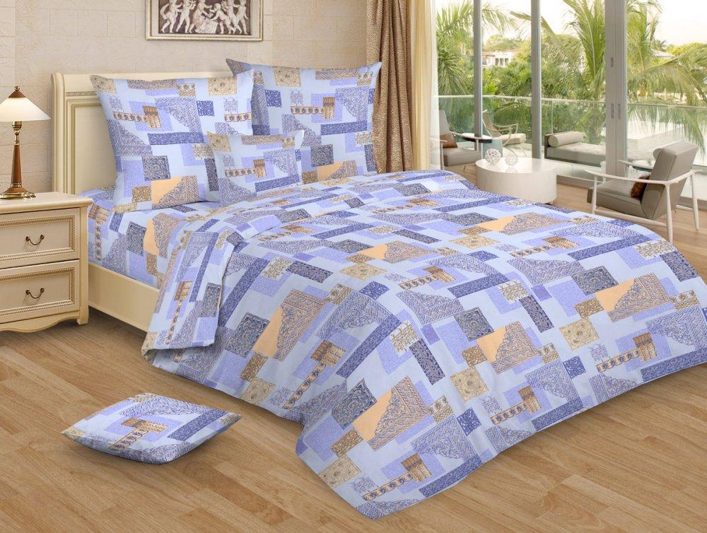 """Постельное белье """"Арабески голубой GS"""" (бязь) 1,5 спальный"""