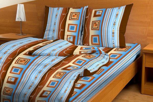 """Постельное белье """"Этажи голубые GS"""" (бязь) 1,5 спальный"""