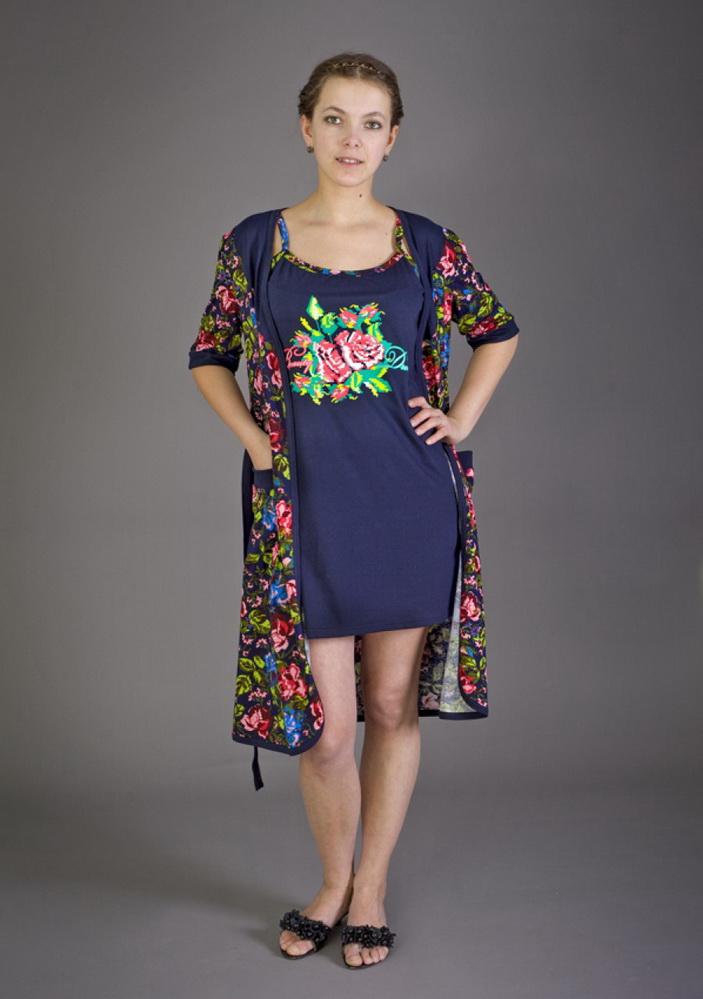 Комплект женский РозыНочные комплекты<br>Размер: 46<br><br>Высота: 9<br>Размер RU: 46