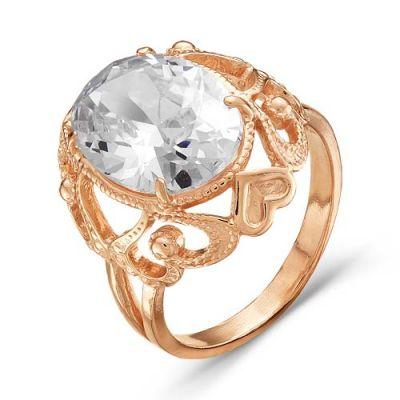 Кольцо серебряное 2387523Серебряные кольца<br>Вес  5,91<br>Вставка  фианит<br>Покрытие  золочение Размер: 17.5<br><br>Высота: 3<br>Размер RU: 17.5