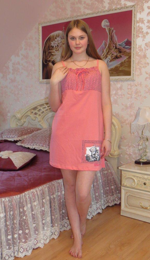 Ночная сорочка ГрезыСорочки и ночные рубашки<br>Сорочка на брителях, отлично подойдет для будущих мам. Рост модели на фото 170 см. Размер: 54<br><br>Высота: 7<br>Размер RU: 54