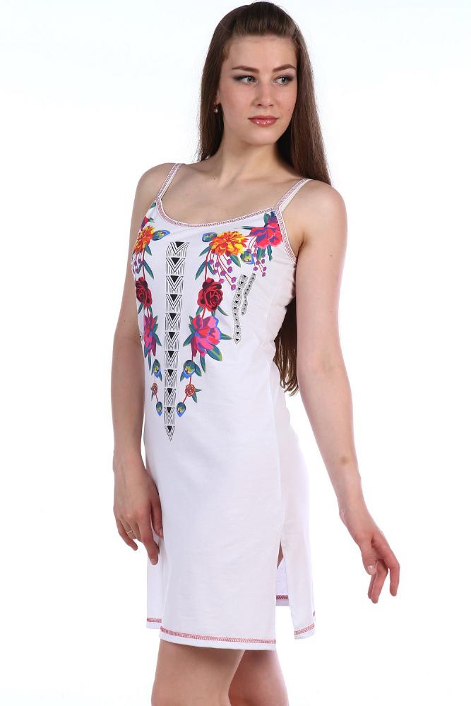 Сорочка женская РосарияСорочки и ночные рубашки<br>Размер: 52<br><br>Высота: 7<br>Размер RU: 52