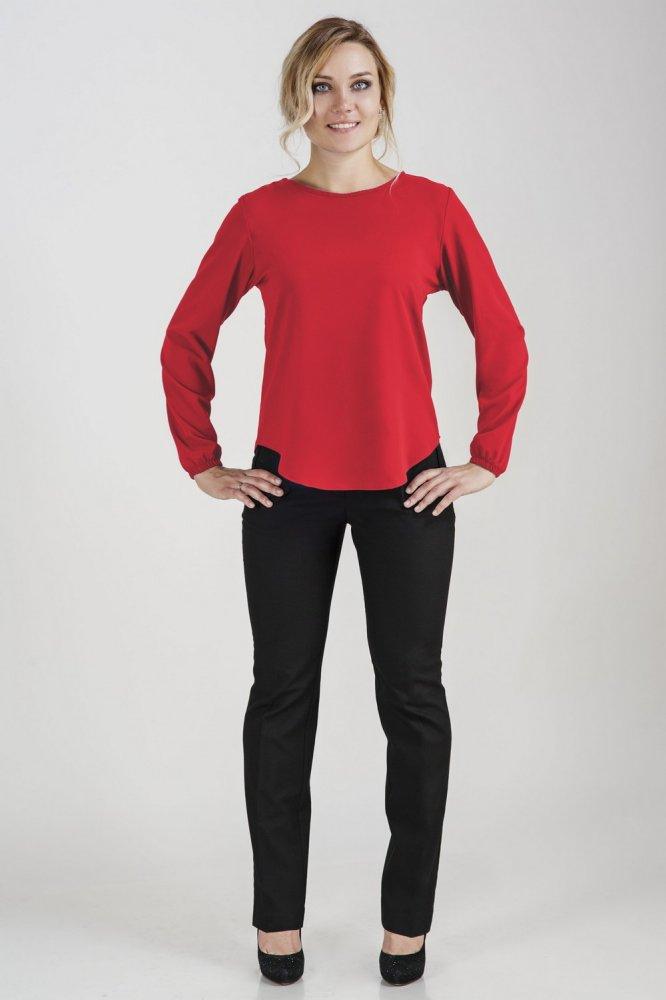 Блузка женская СофинаБлузки<br>Размер: 48<br><br>Принадлежность: Женская одежда<br>Основной материал: Вискоза<br>Страна - производитель ткани: Россия, г. Иваново<br>Вид товара: Одежда<br>Материал: Вискоза с лайкрой<br>Тип застежки: Без застежки<br>Состав: 65% вискоза, 30% полиэстер, 5% лайкра<br>Длина рукава: Длинный<br>Длина: 18<br>Ширина: 12<br>Высота: 7<br>Размер RU: 48