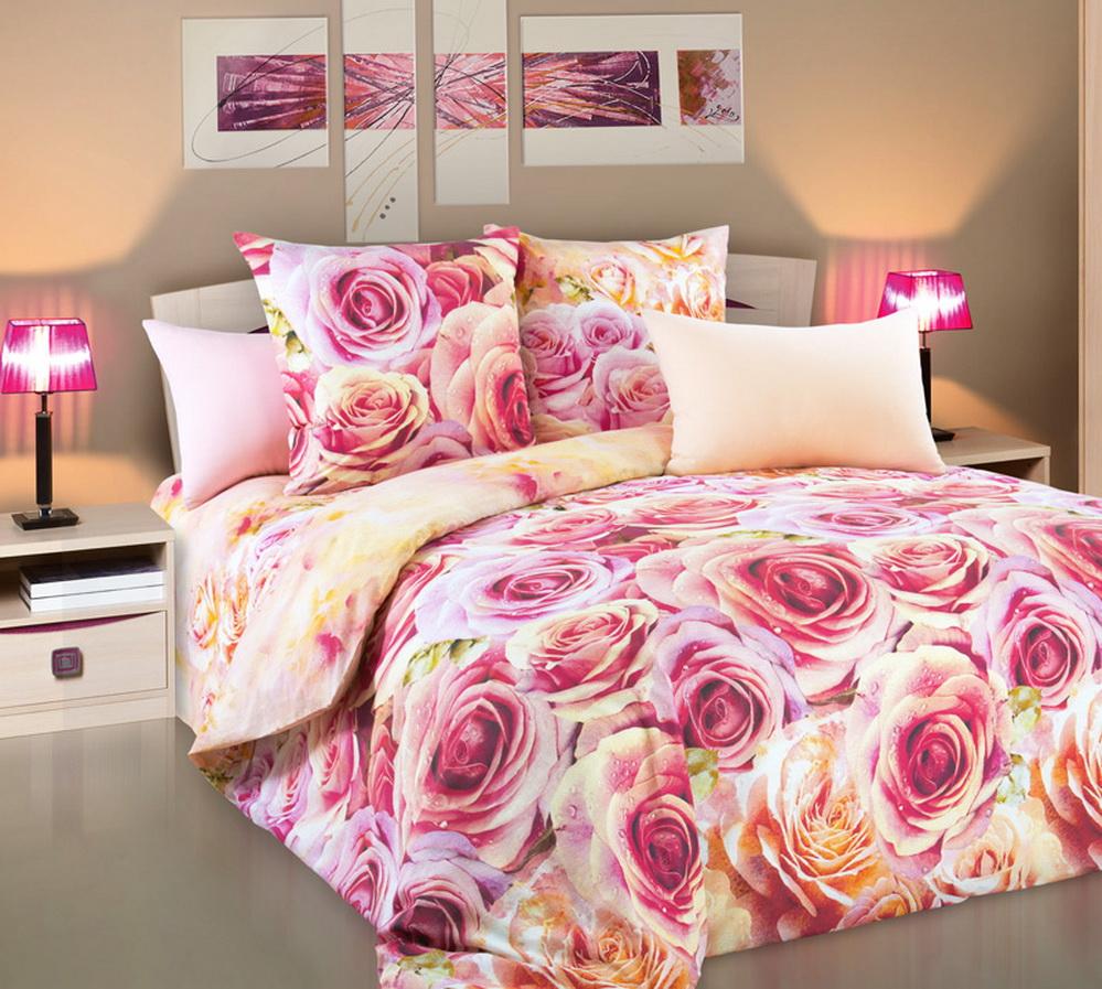 Постельное белье Романс (перкаль) 1,5 спальныйПеркаль<br>Размер: 1,5 спальный<br><br>Высота: 9<br>Размер RU: 1,5 спальный