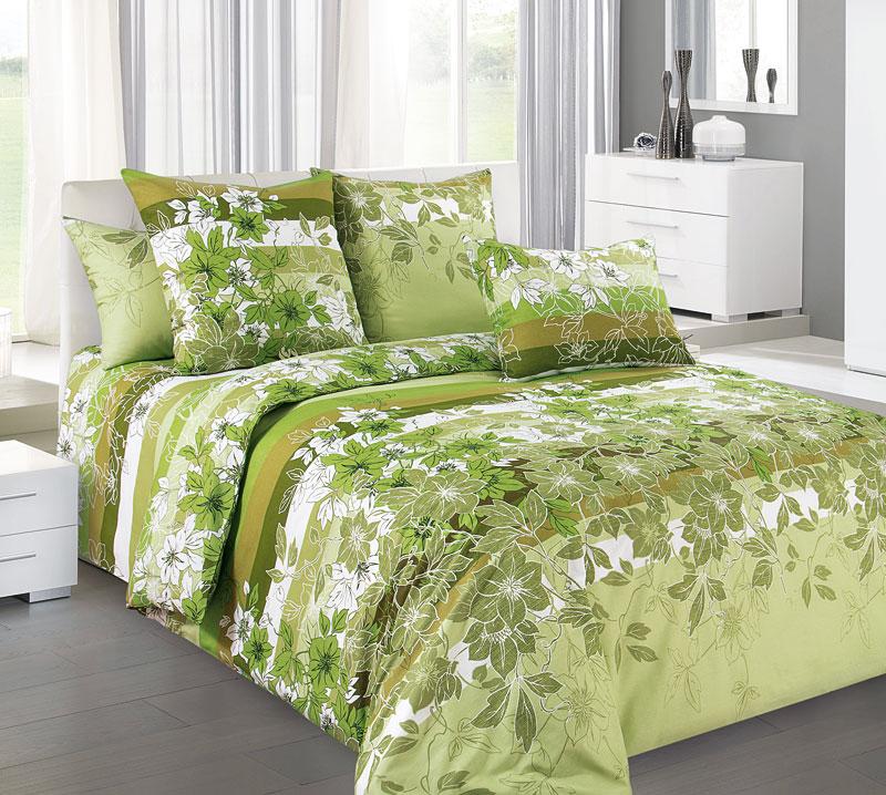"""Постельное белье """"Бьюти"""" зеленый (бязь) 2 спальный"""