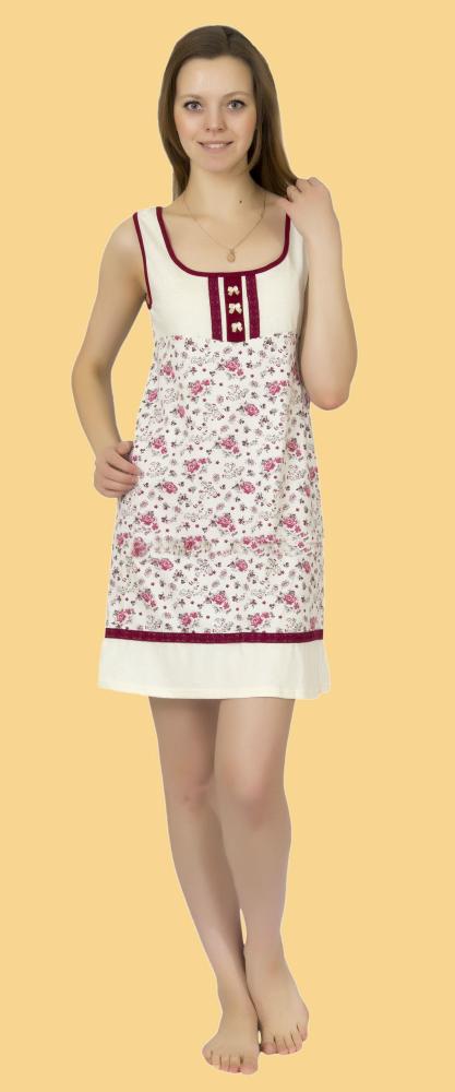 Ночная сорочка ЛаураСорочки и ночные рубашки<br>Размер: 52<br><br>Высота: 7<br>Размер RU: 52