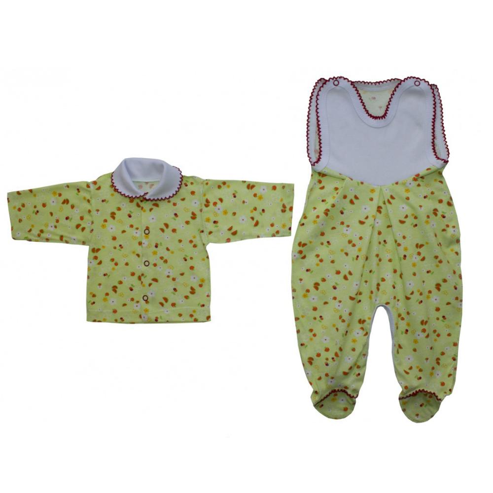 Комплект МалюткаКостюмы и комплекты<br>Определиться с расцветкой Вы можете здесь Размер: 22<br><br>Принадлежность: Детская одежда<br>Возраст: Младенец (0-12 месяцев)<br>Пол: Унисекс<br>Основной материал: Кулирка<br>Страна - производитель ткани: Россия, г. Иваново<br>Вид товара: Детская одежда<br>Материал: Кулирка<br>Состав: 100% хлопок<br>Длина: 18<br>Ширина: 12<br>Высота: 2<br>Размер RU: 22