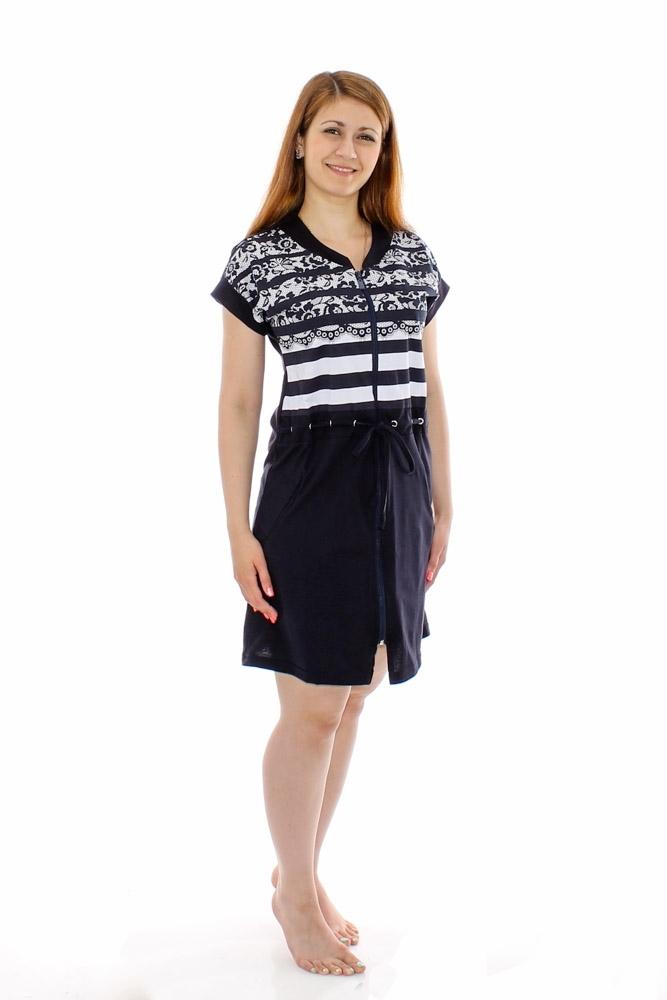 Халат женский ВенецияЛегкие халаты<br>Размер: 52<br><br>Принадлежность: Женская одежда<br>Основной материал: Кулирка<br>Вид товара: Одежда<br>Материал: Кулирка<br>Длина рукава: Короткий<br>Длина: 19<br>Ширина: 17<br>Высота: 9<br>Размер RU: 52