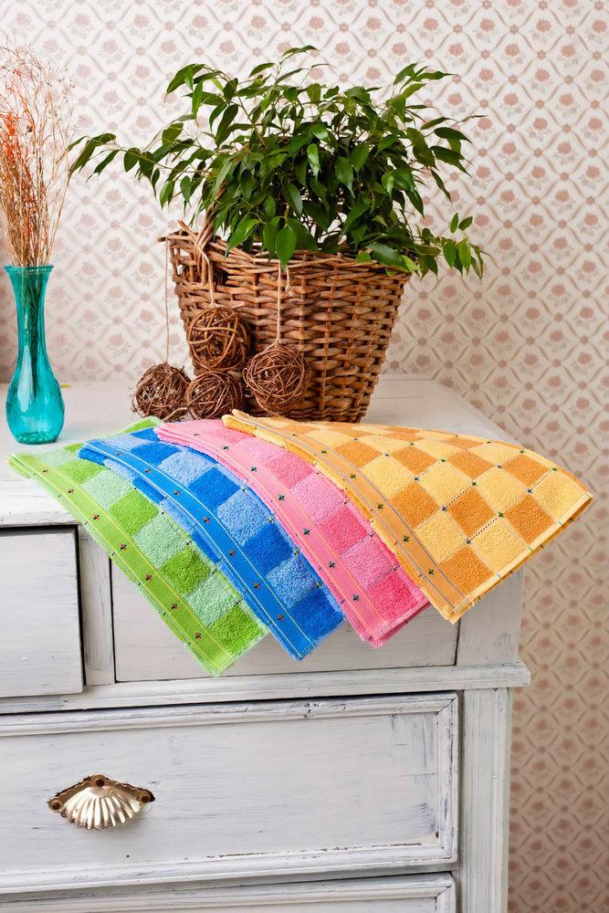 Купить Полотенце кухонное Цветная клетка