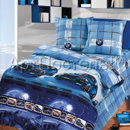 Купить Постельное белье Драйв синий (бязь)