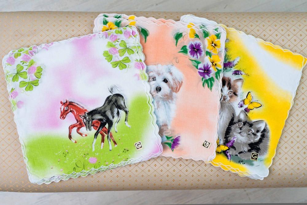 Купить Платки Животные (упаковка 12 штук)