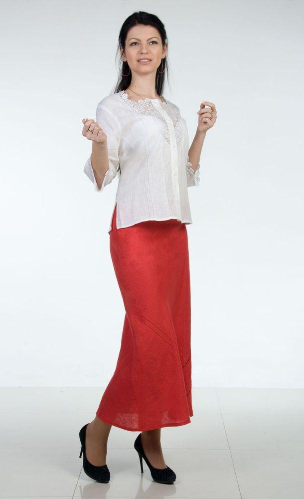 Купить Льняная юбка Эмма (большемерка)